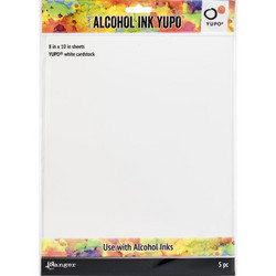 Tim Holtz Alcohol Ink White Yupo -paperi, muovipaperi, 8