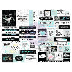 Prima Flirty Fleur -tarrat Words & Quotes with Foil Accents