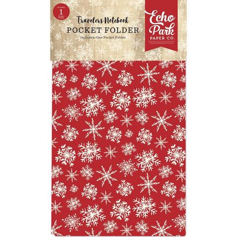 Echo Park Traveler's Notebook Pocket Folder Christmas 4.75