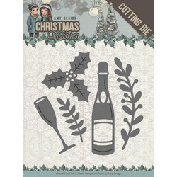 Amy Design Christmas Wishes stanssisetti Champagne