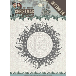 Amy Design Christmas Wishes stanssi Holly Wreath