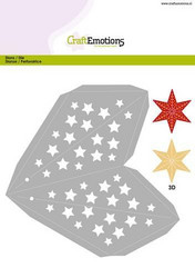 CraftEmotions Christmas 3D Decoration Star -stanssi