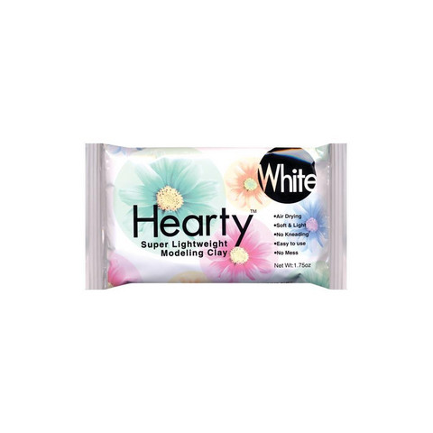 Hearty Super Lightweight Air-Dry Clay, kevytsavi, valkoinen, 50 g