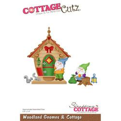 CottageCutz stanssisetti Woodland Gnomes & Cottage