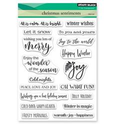 Penny Black Christmas Sentiments leimasinsetti