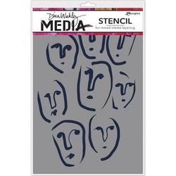 Dina Wakley Media sapluuna Circle Faces, 9