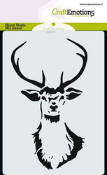 CraftEmotions sapluuna Reindeer Head