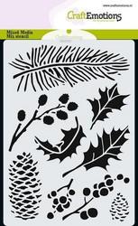 CraftEmotions sapluuna Xmas Florals