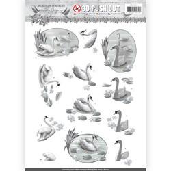 Amy Design Words of Sympathy 3D-kuvat Sympathy Swans