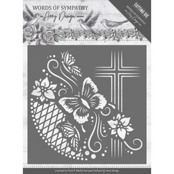 Amy Design Words of Sympathy stanssi Cross Frame