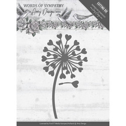 Amy Design Words of Sympathy stanssisetti Sympathy Flower