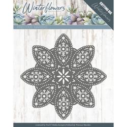 Precious Marieke Winter Flowers stanssi Floral Snowflake