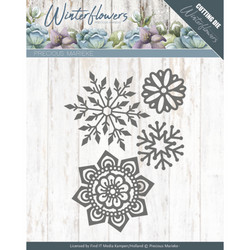 Precious Marieke Winter Flowers stansssetti Ice Flowers