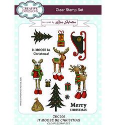 Creative Expressions leimasinsetti It Moose Be Christmas