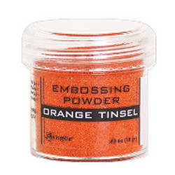 Ranger Embossing Powder -kohojauhe, sävy Orange Tinsel