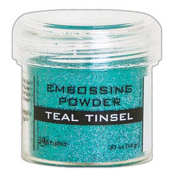 Ranger Embossing Powder -kohojauhe, sävy Teal Tinsel