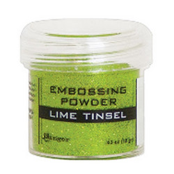 Ranger Embossing Powder -kohojauhe, sävy Lime Tinsel