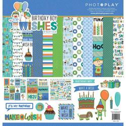 PhotoPlay Birthday Boy Wishes -paperipakkaus, 12