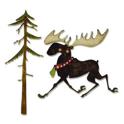 Sizzix Thinlits stanssisetti Merry Moose