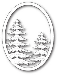 Memory Box Snowy Pine Oval -stanssi