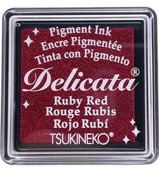 Tsukineko Delicata Ruby Red mustetyyny, pieni