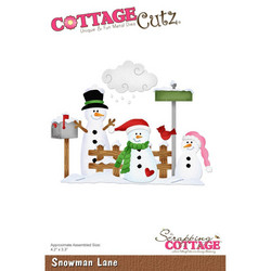 CottageCutz stanssisetti Snowman Lane
