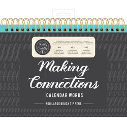 Kelly Creates Making Connections, Calendar Words -harjoitusvihko, large brush
