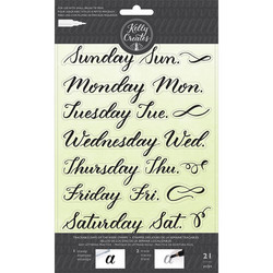 Kelly Creates lettering leimasinsetti Days Of The Week