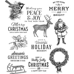 Stampers Anonymous, Tim Holtz leimasinsetti Festive Overlay