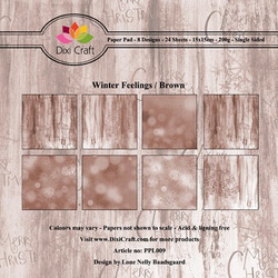 Dixi Craft Winter Feelings Brown -paperipakkaus