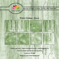 Dixi Craft Winter Feelings Green -paperipakkaus