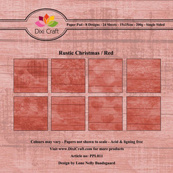Dixi Craft Rustic Christmas Red -paperipakkaus