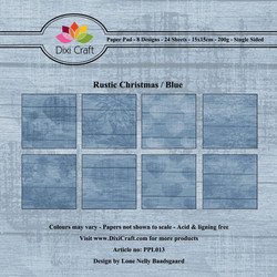 Dixi Craft Rustic Christmas Blue -paperipakkaus