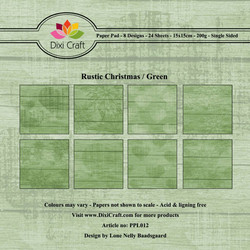 Dixi Craft Rustic Christmas Green -paperipakkaus