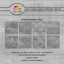 Dixi Craft Rustic Christmas Grey -paperipakkaus