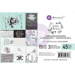 Prima Flirty Fleur Journaling Cards,  4