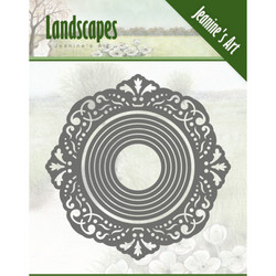 Jeanines Art Landscapes stanssisetti Mini Frame Circle