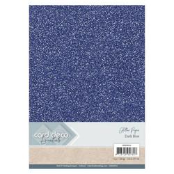 Card Deco Glitter -paperipakkaus, Dark Blue, A4