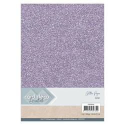 Card Deco Glitter -paperipakkaus, Lilac, A4