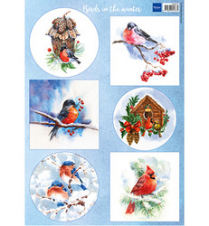 Marianne Design Birds in the snow -korttikuvat