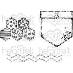 Heartfelt Creations Patchwork Pocket & Patterns -leimasinsetti