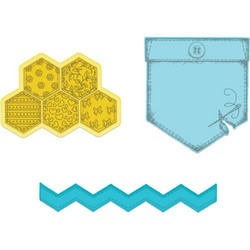 Heartfelt Creations Patchwork Pocket & Patterns -stanssisetti
