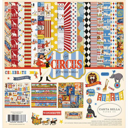 Carta Bella Circus -paperipakkaus, 12