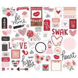 Simple Stories Kissing Booth Bits & Pieces Die-Cuts, leikekuvat, 66 kpl