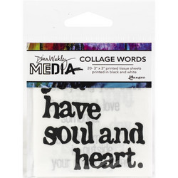 Dina Wakley Media Collage Word Pack Tissue -paperipakkaus #2