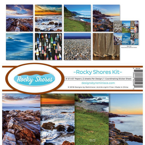 Reminisce Rocky Shores -paperipakkaus 12