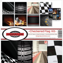 Reminisce Checkered Flag -paperipakkaus 12