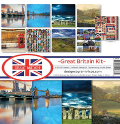 Reminisce Great Britain -paperipakkaus 12