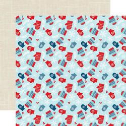 Echo Park Celebrate Winter skräppipaperi Cozy Mittens