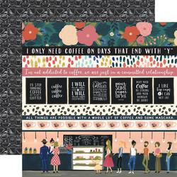 Echo Park Coffee skräppipaperi Border Strips